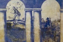 Caçador i família d'excursionistes. Sèrie blava del Celler, 1915-1916.