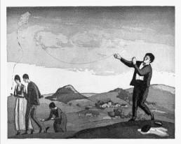 L'estel. Aiguafort i aiguatinta, 1917.