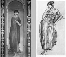Figura decorativa i estudi. Saló Plandiura. Oli sobre llenç, 1919.
